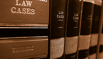 Image of a row of legal books - law cases